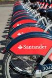 Santander bikes Royalty Free Stock Images