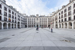 Santander, Cantabria, Spain-25 october 2015: arcaded square Royalty Free Stock Photo