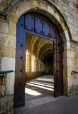 Santander Cathedral, access door to the cloister Stock Photography