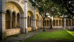 Santander Cathedral, a corner of the cloister Royalty Free Stock Photography