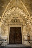 Santander Cathedral, main door to the Church Royalty Free Stock Photos