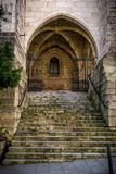 Santander Cathedral, staircase of access Royalty Free Stock Photography