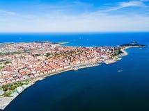 Santander City Aerial View, Spain Stock Image