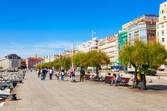 Santander city embankment in Spain Royalty Free Stock Image