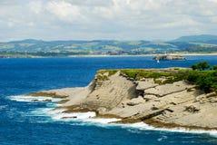 Santander cliffs. Cliffs of Santander. Cantabrian sea. Spain Royalty Free Stock Image