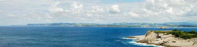 Santander cliffs. Cliffs of Santander. Cantabrian sea. Spain Royalty Free Stock Photo