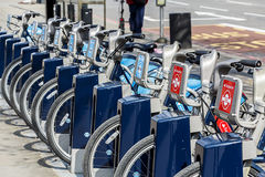 Santander / Barclays Cycle Hire Stock Photos