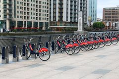 Santander Cycles Stock Photos