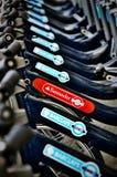 Santander cykelhyra Fotografering för Bildbyråer