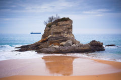Santander, Espanha do norte, praia do EL Camello Fotografia de Stock Royalty Free
