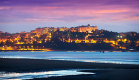 Santander in  evening.  Cantabria,   Spain Stock Photography