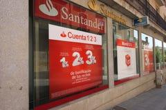 Santander gruppbank Arkivbild
