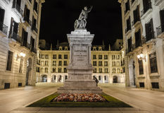 Santander by night Royalty Free Stock Photography