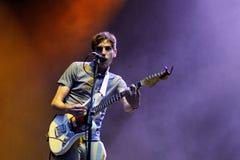 As dores de ser puro no coração no festival de música de Santander Fotos de Stock Royalty Free