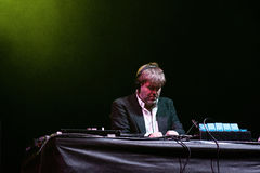 James Murphy, from LCD Soundsystem band, performs as DJ Royalty Free Stock Images