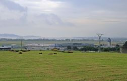 View of international airport of Santander in Spain Stock Photography