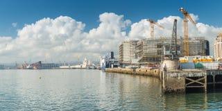 Santander, Spain. Port of sunny Santander, Spain royalty free stock image