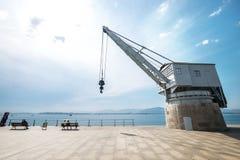 Santander Spain sea industrial embankment crane wide angle vie Royalty Free Stock Photography