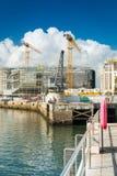 Santander, Spain. September 27, 2015: The Pier of Santander at a sunny day Royalty Free Stock Image