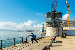 Santander, Spain. September 27, 2015: The Pier of Santander at a sunny day Stock Images