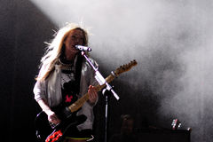 De Ting Tings band presteert in Spanje Stock Afbeelding