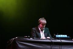 James Murphy, van LCD Soundsystem band, presteert als DJ Royalty-vrije Stock Afbeeldingen