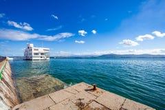 SANTANDER, SPANJE - OKTOBER 15, 2012 Mening van de dijk van B stock afbeeldingen