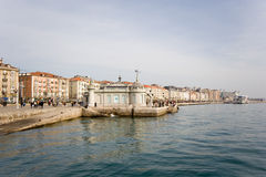 Santander,  walk at edge of the sea Royalty Free Stock Photos