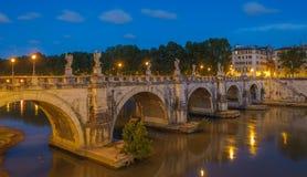 Sant'Angelo bridge in Rome, Italy Stock Photo