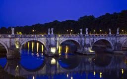 Santangelo Bridge - Rome Royalty Free Stock Photography