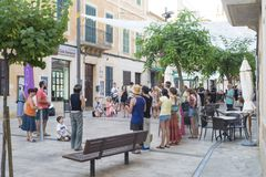 Santanyí, España - July 12, 2018: Manifestation against gender royalty free stock photography
