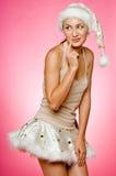 Santarina op Roze Royalty-vrije Stock Afbeeldingen