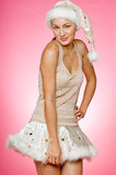 Santarina sul colore rosa Fotografia Stock