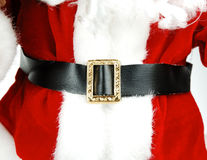 Santas Belly. Close up of Santas clothes Stock Images