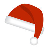 Santas cap. Isolated on a white background. Vector illustration Stock Photos