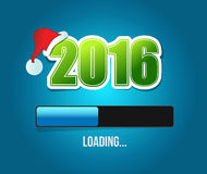 2016 santas christmas loading illustration design Royalty Free Stock Images