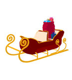 Santas Christmas Sleigh Art Illustration Royalty Free Stock Photography