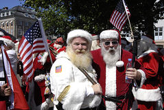 SANTAS CONFERENCE Royalty Free Stock Photography