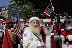 SANTAS CONFERENCE Royalty Free Stock Photo