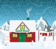 Santas dom ilustracji