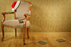 Santas fåtölj Arkivfoto