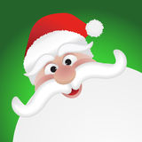 Santas face Stock Photography