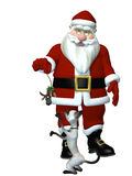 Santas gåva till hans katt Royaltyfria Foton