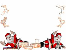 Santas with gifts. Royalty Free Stock Image