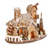 Santas gingerbread house observatory. Santa's Christmas gingerbread house observatorium isolated stock images