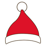 Santas hat of Merry Christmas design. Santas hat icon. Merry Christmas season decoration figure theme. Isolated design. Vector illustration Royalty Free Stock Photos