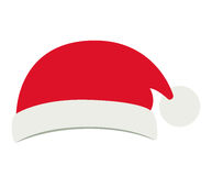 Santas hat of Merry Christmas design. Santas hat icon. Merry Christmas season decoration figure theme. Isolated design. Vector illustration Stock Photos
