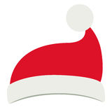 Santas hat of Merry Christmas design. Santas hat icon. Merry Christmas season decoration figure theme. Isolated design. Vector illustration Stock Photography