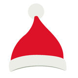 Santas hat of Merry Christmas design. Santas hat icon. Merry Christmas season decoration figure theme. Isolated design. Vector illustration Royalty Free Stock Photo