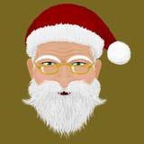 Santas head Stock Photo